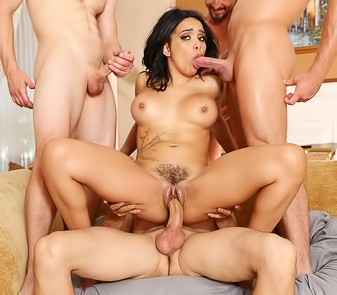 Aaliyah Hadid Getting Fucked In All Holes At Once
