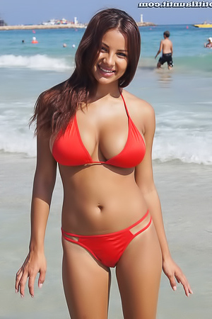 Lacey Banghard topless on the beach