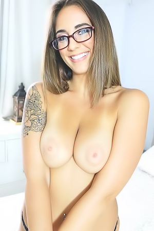 Layla London with Natural Tits