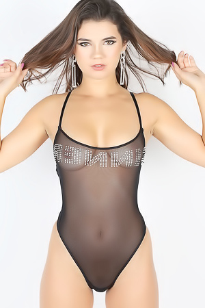 Perfect Tiny Dare Shows Off Her Tight Body In A Very Skimpy Semi Sheer Bodysuit